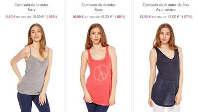 camisetas tirantes baratas