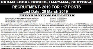 Urban Local Bodies Haryana Recruitment 2019