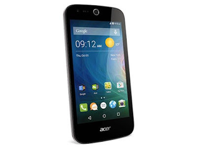 Acer Liquid Z330 Specifications - LAUNCH Announced 2015, September DISPLAY Type IPS LCD capacitive touchscreen, 16M colors Size 4.5 inches (~61.7% screen-to-body ratio) Resolution 480 x 854 pixels (~218 ppi pixel density) Multitouch Yes BODY Dimensions 136 x 66.5 x 9.6 mm (5.35 x 2.62 x 0.38 in) Weight 142 g (5.01 oz) SIM Single SIM (Micro-SIM) or Dual SIM (Micro-SIM, dual stand-by) PLATFORM OS Android OS, v5.1 (Lollipop) CPU Quad-core 1.1 GHz Cortex-A7 Chipset Qualcomm MSM8909 Snapdragon 210 GPU Adreno 304 MEMORY Card slot microSD (dedicated slot) Internal 8 GB, 1 GB RAM CAMERA Primary 5 MP, autofocus, LED flash Secondary 5 MP Features Yes Video Yes NETWORK Technology GSM / HSPA / LTE 2G bands GSM 850 / 900 / 1800 / 1900 - SIM 1 & SIM 2 (dual-SIM model only) 3G bands HSDPA 4G bands LTE Speed HSPA, LTE GPRS Yes EDGE Yes COMMS WLAN Yes NFC No GPS Yes, with A-GPS USB microUSB v2.0 Radio  Bluetooth v4.0, A2DP FEATURES Sensors Accelerometer, proximity Messaging SMS (threaded view), MMS, Email, Push Email, IM Browser HTML Java No SOUND Alert types Vibration; MP3, WAV ringtones Loudspeaker Yes 3.5mm jack Yes  - DTS sound BATTERY  Removable Li-Ion 2000 mAh battery Stand-by Up to 430 h Talk time Up to 11 h Music play  MISC Colors Mystic Black, Pure White Features - MP3/WAV/eAAC+/WMA player - MP4/H.264/WMV player - Document viewer - Video/photo editor