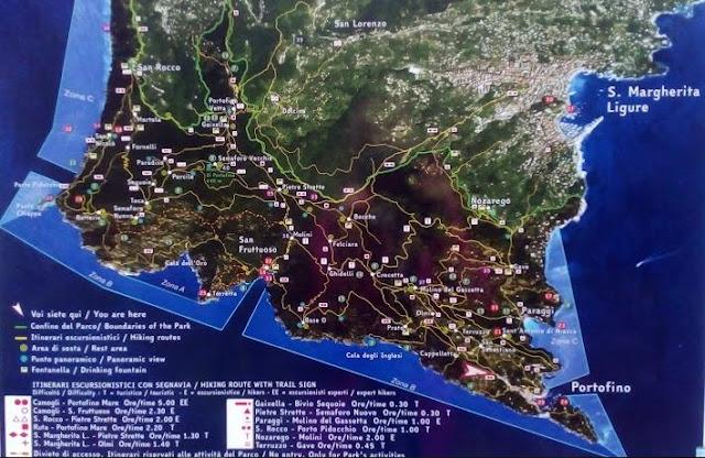 mappa Parco Portofino