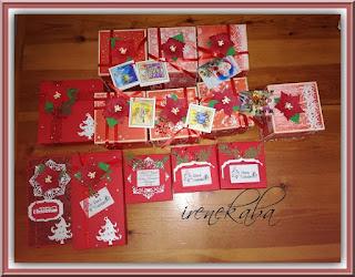 Moje prezenty świąteczne wykonane z papieru