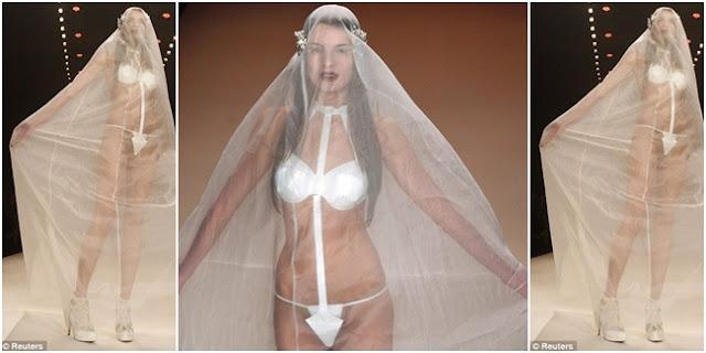 Gaun Pengantin Transparan Bikin Tamu Ngiler