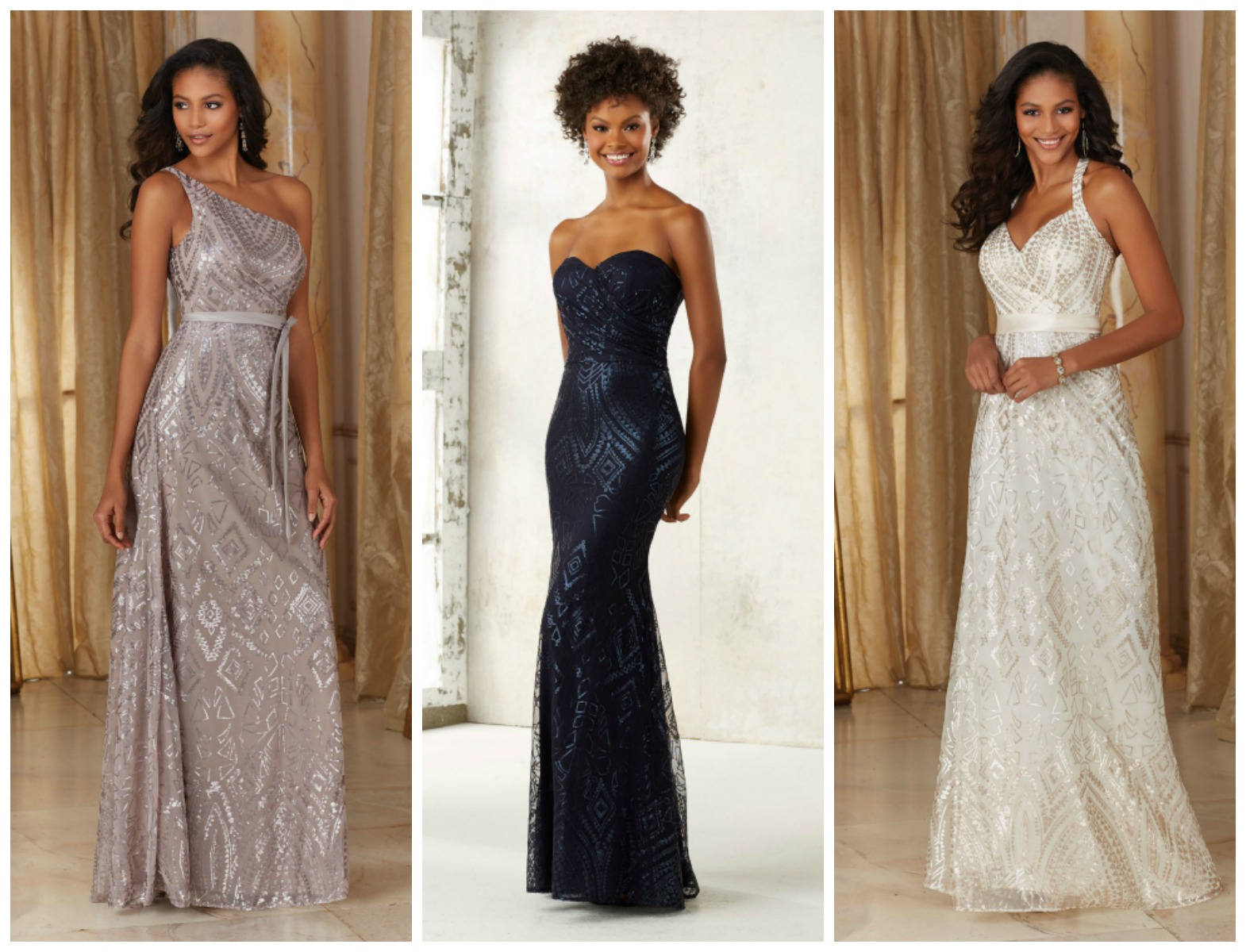 Brides of america online store patterned sequined bridesmaid today the majority of our brides are searching for bridesmaid gowns that the women in their bridal party can wear again after the wedding ombrellifo Images