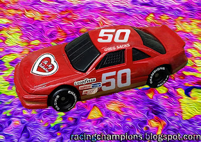 Greg Sacks #50 Be My Valentine Pontiac 1988 Daytona 500 Racing Champions 1/64 NASCAR diecast blog custom