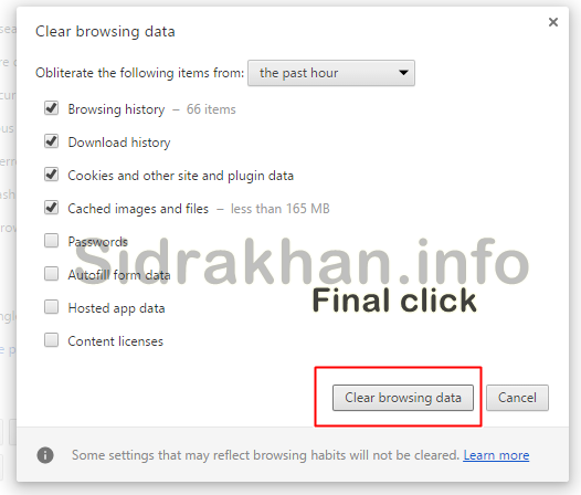 Delete Chrome History urdu