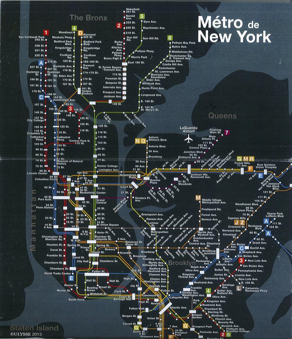 Plan métro New York
