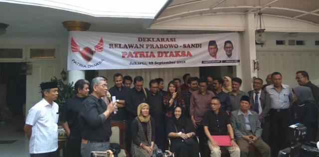 Komunitas Nasionalis Soekarnois Deklarasikan Dukungan Kepada Prabowo-Sandi