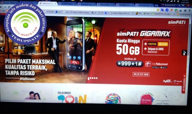 WOW Telkomsel Rilis Paket SimPATI GIGAMAX Kuota Hingga 50 GB Harga Cuma Rp 299.000