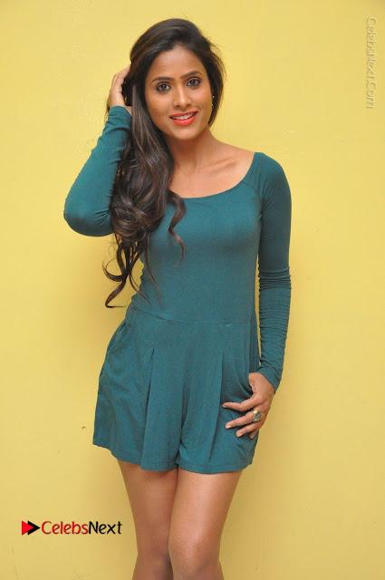 Telugu Actress Prasanthi Stills in Green Short Dress at Swachh Hyderabad Cricket Press Meet  0001.JPG
