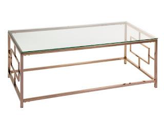 mesa centro color oro cristal