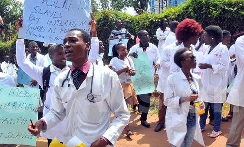 Martha Leah Nangalama: UGANDA: Medical interns strike over delayed pay