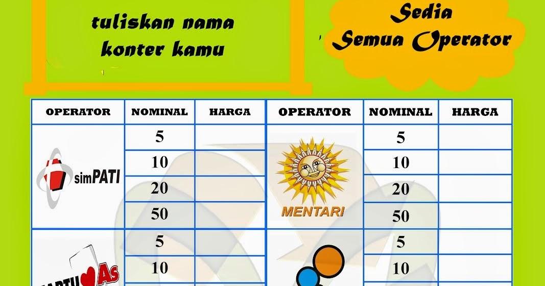 Image Result For Pulsa Murah Di Bungur