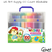 US Art Supply 100 Count Washable Marker Set