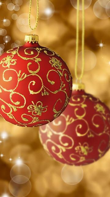 christmas ball wallpaper iPhone 6s