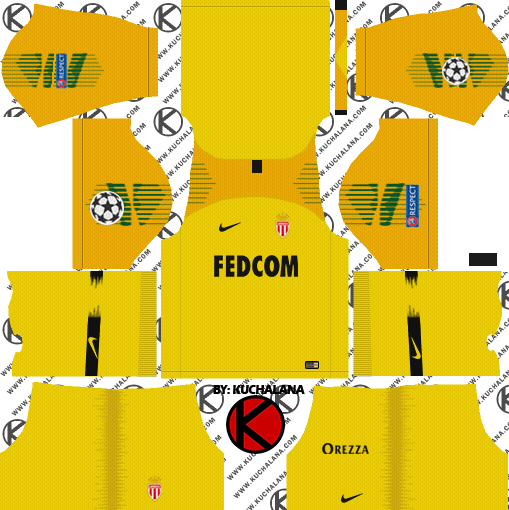 e50d2bc8699 AS Monaco FC 2018/19 Kit - Dream League Soccer Kits - Kuchalana
