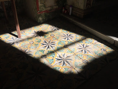 Cava D'Ispica - Floor detail of Chiesetta Rupestre di Santa Maria della Cava.