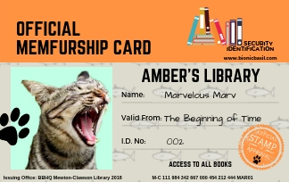 My Libraby Card to Clawson Library