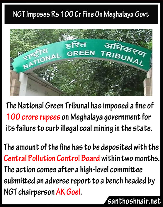 NGT imposes Rs. 1000 Cr fine on Meghalaya Govt