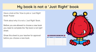 My book is not a just right book