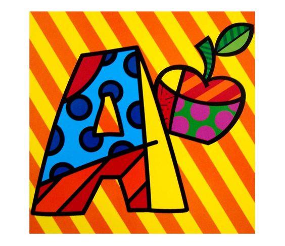 Alfabeto Romero Britto Cartazes Para Imprimir Alfabetos Lindos