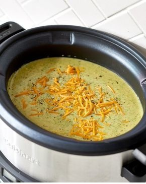 The Pioneer Woman's Slow Cooker Broccoli Cheddar Soup