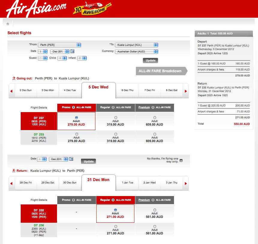 Asian airlines tickets
