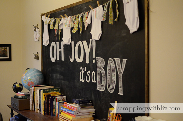 Boy Baby Shower DIY Chalkboard