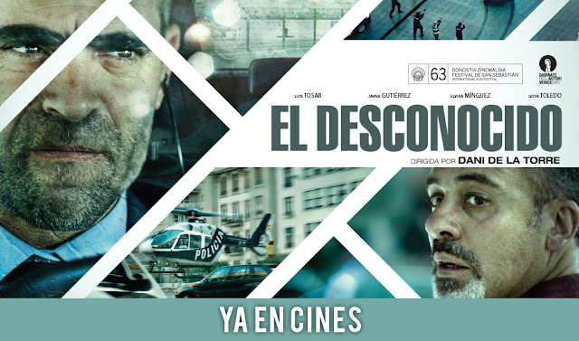 Cartel de la película El desconocido (2015) con Luis Tosar y Javier Gutiérrez