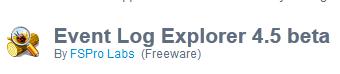 Event Log Explorer 4.5 beta Free Download