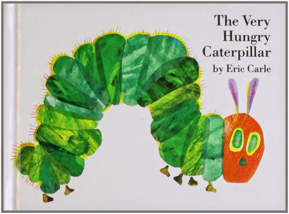 The Very Hungry Caterpillar, part of children's book review list about fruit