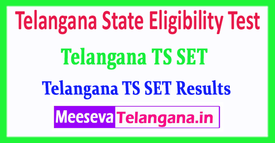 TS SET Telangana State Eligibility Test Results 2017 Download