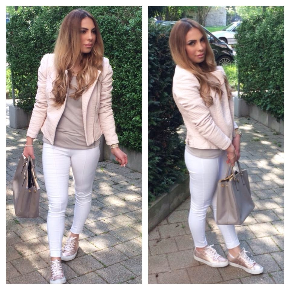 converse rose gold outfit