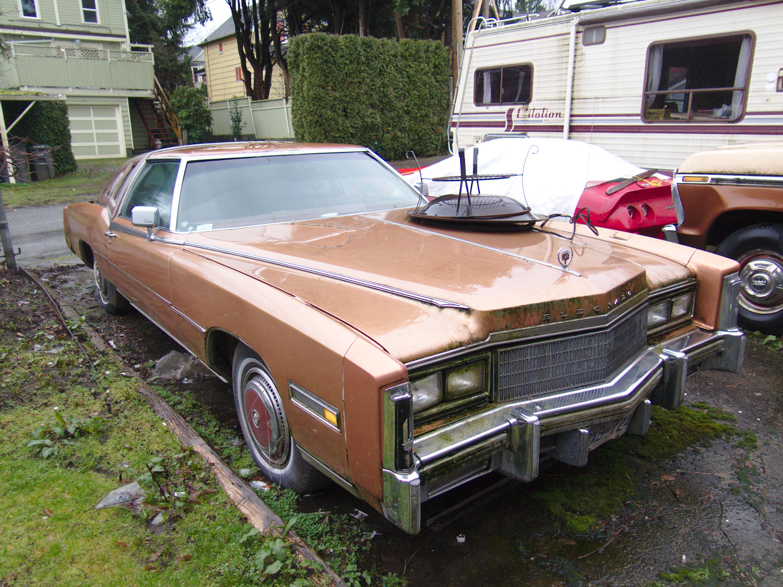 Old Parked Cars Vancouver: 1976 Cadillac Eldorado Biarritz