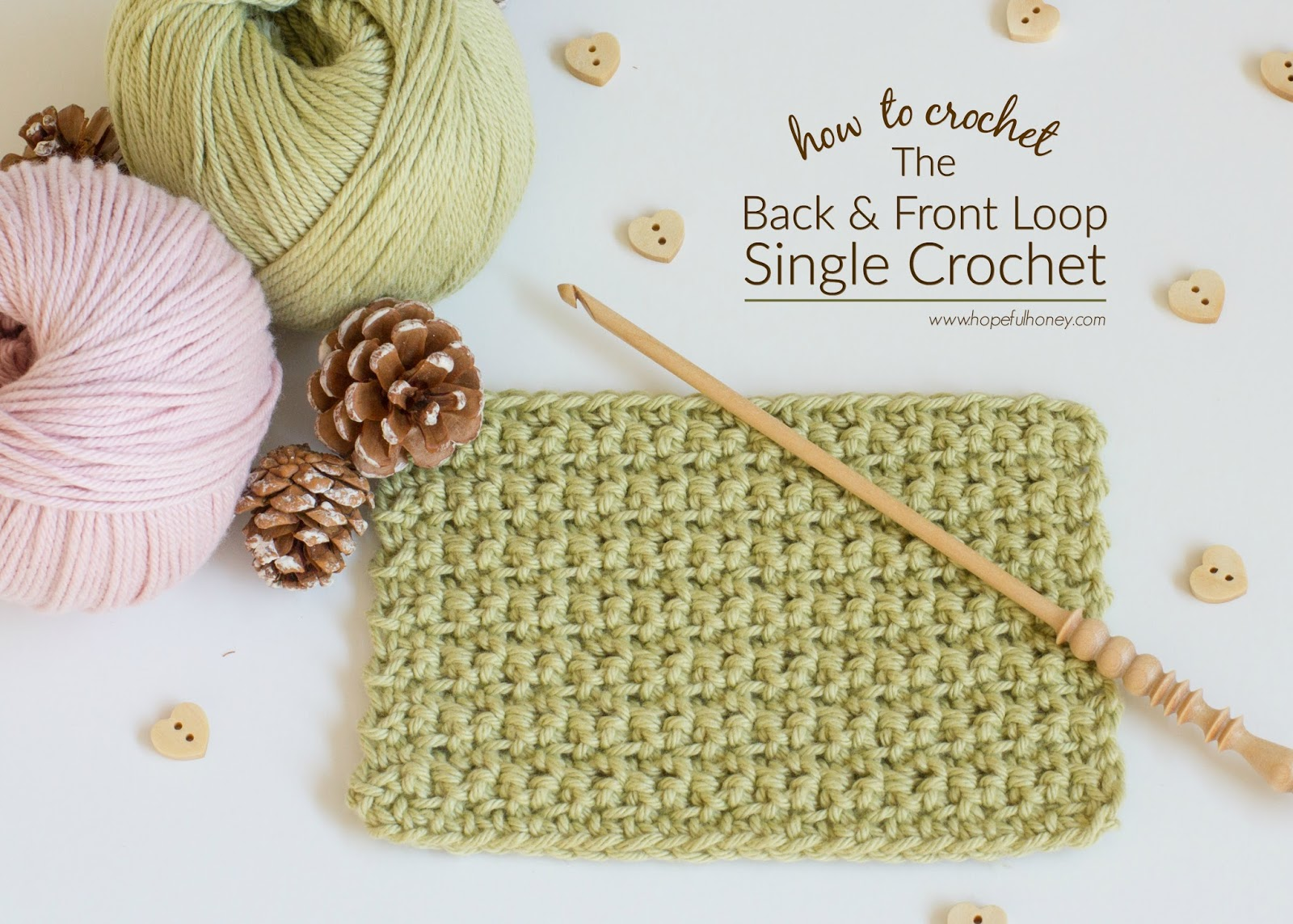 How To: Crochet The Back And Front Loop Single Crochet Stitch - Easy ...