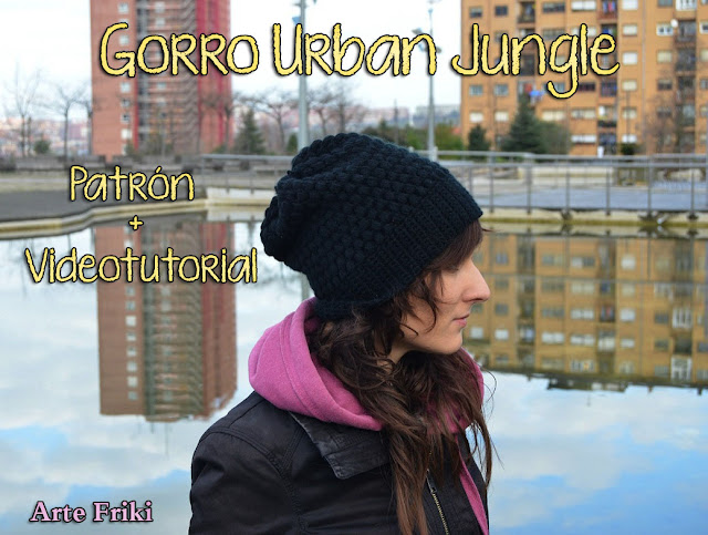patron gratis gorro urban jungle hat free pattern crochet ganchillo how to videotutorial
