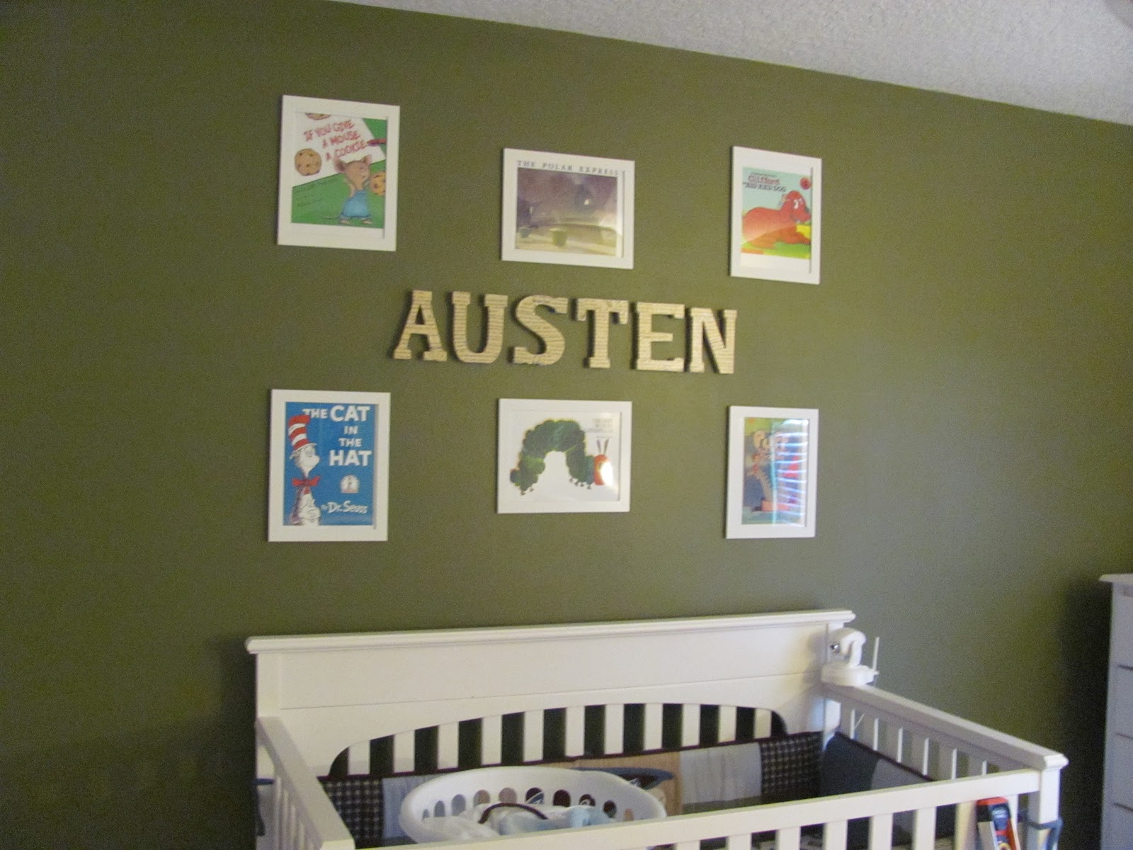 We Also Finished Austen S Nursery This Weekend Went With A Book Themed Room And Printed Off Covers