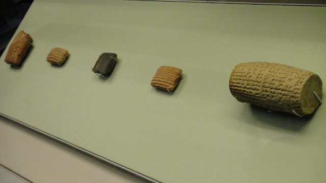 clay tablets from past antiquities,