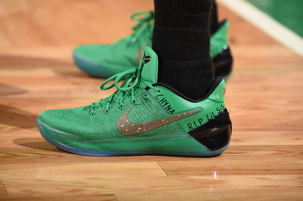 010f22330696 isaiahthomas working his way back in the Nike Kobe A.D. tonight. The same  pair he wore as a member of the Celtics. pic.twitter.com nuxJvzDTMZ