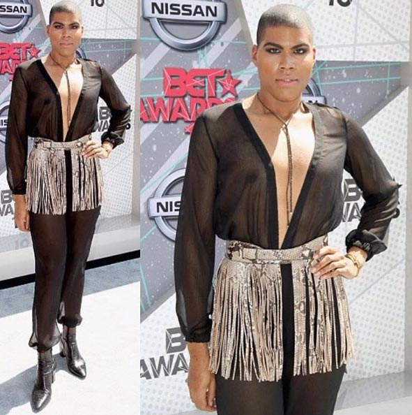EJ Johnson's outfit at 2016 BET Awards though