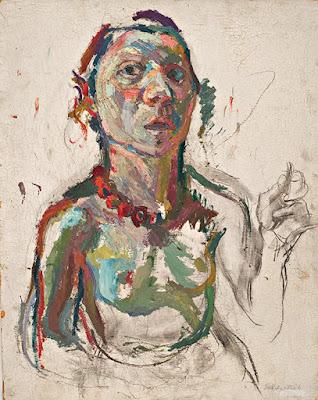 Selbstportraet Expressiv (1945), Maria Lassnig