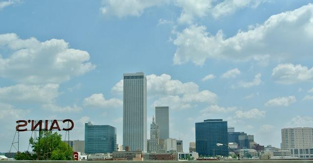 Tulsa Oklahoma downtown skyline cain's