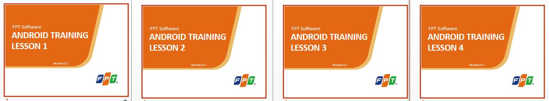 Học lập trình: Lập trình Android FPT Software Training