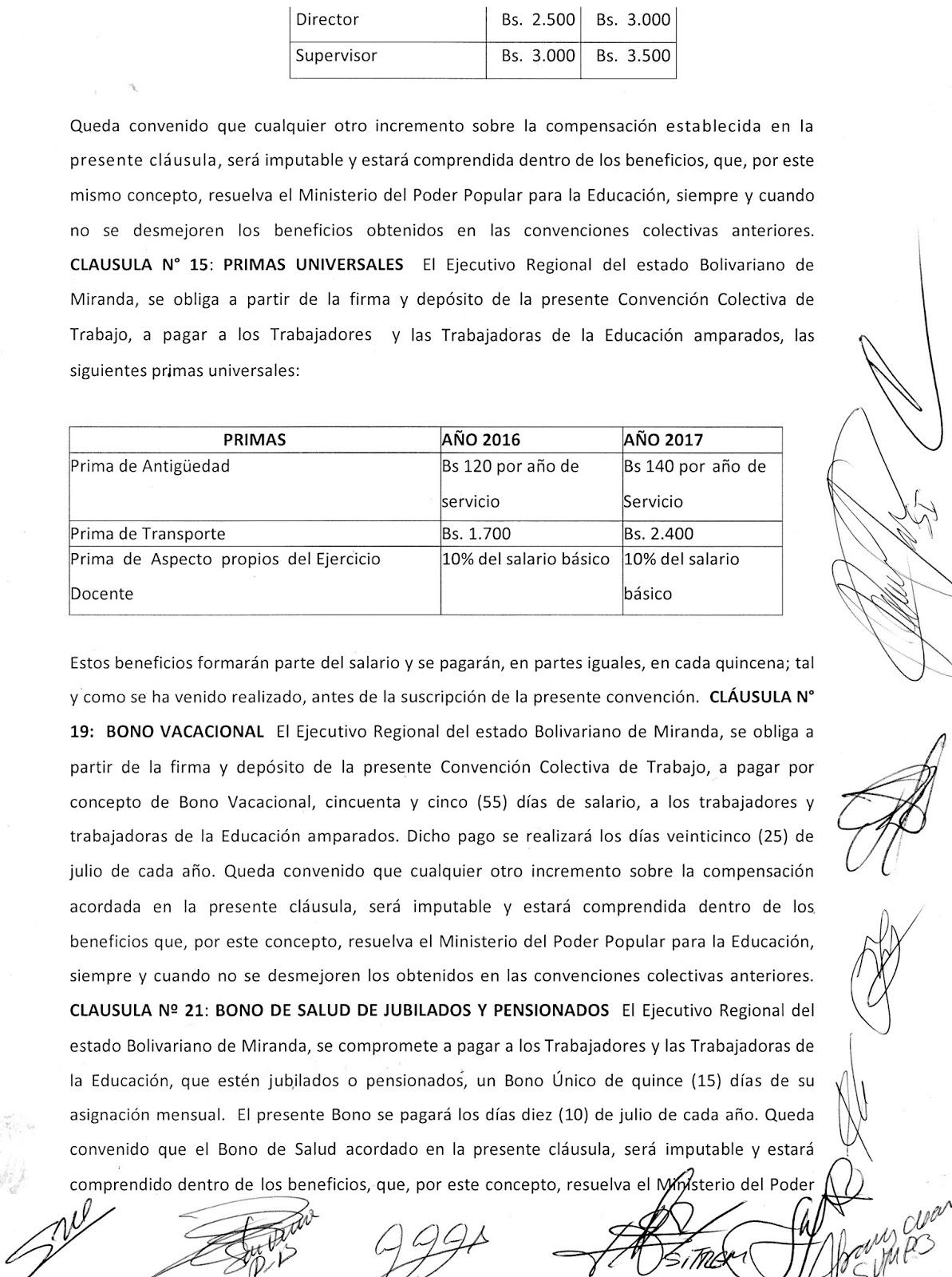 ACTA DE CLÁUSULAS APROBADAS DEL CONTRATO ESTADAL DEL 6 DE ABRIL 2016