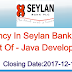 Vacancies In Sri Lanka Seylan Bank  Plc Post Of - Java Developer IT