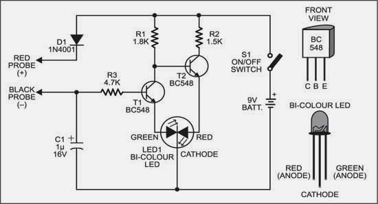 simple logic tester circuit diagram