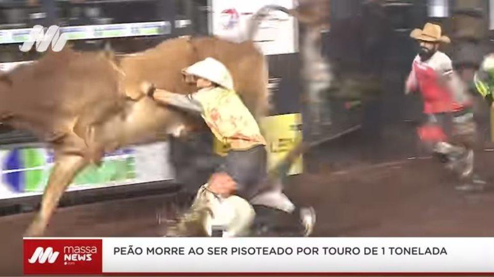 Καουμπόι σε ροντέο πέφτει νεκρός αφού τον ποδοπάτησε ταύρος (βίντεο)