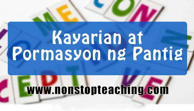 Kayarian at Pormasyon ng Pantig