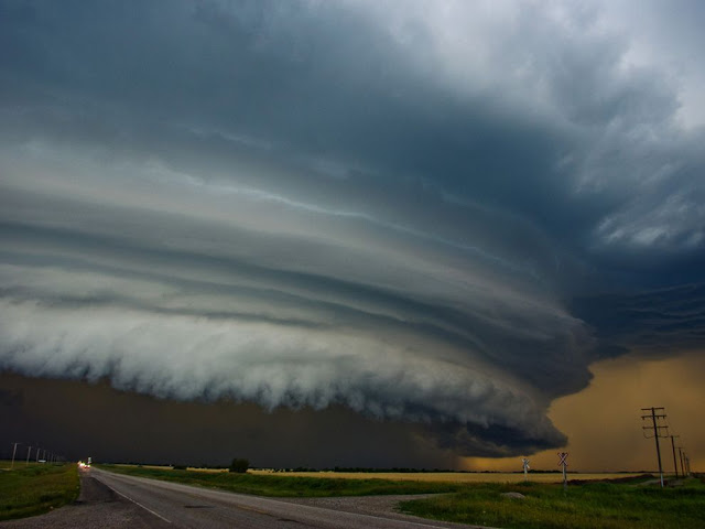A shelf cloud is a low, horizontal, wedge-shaped arcus cloud. a shelf cloud is attached to the base of the parent cloud, which is usually a thunderstorm, but could.