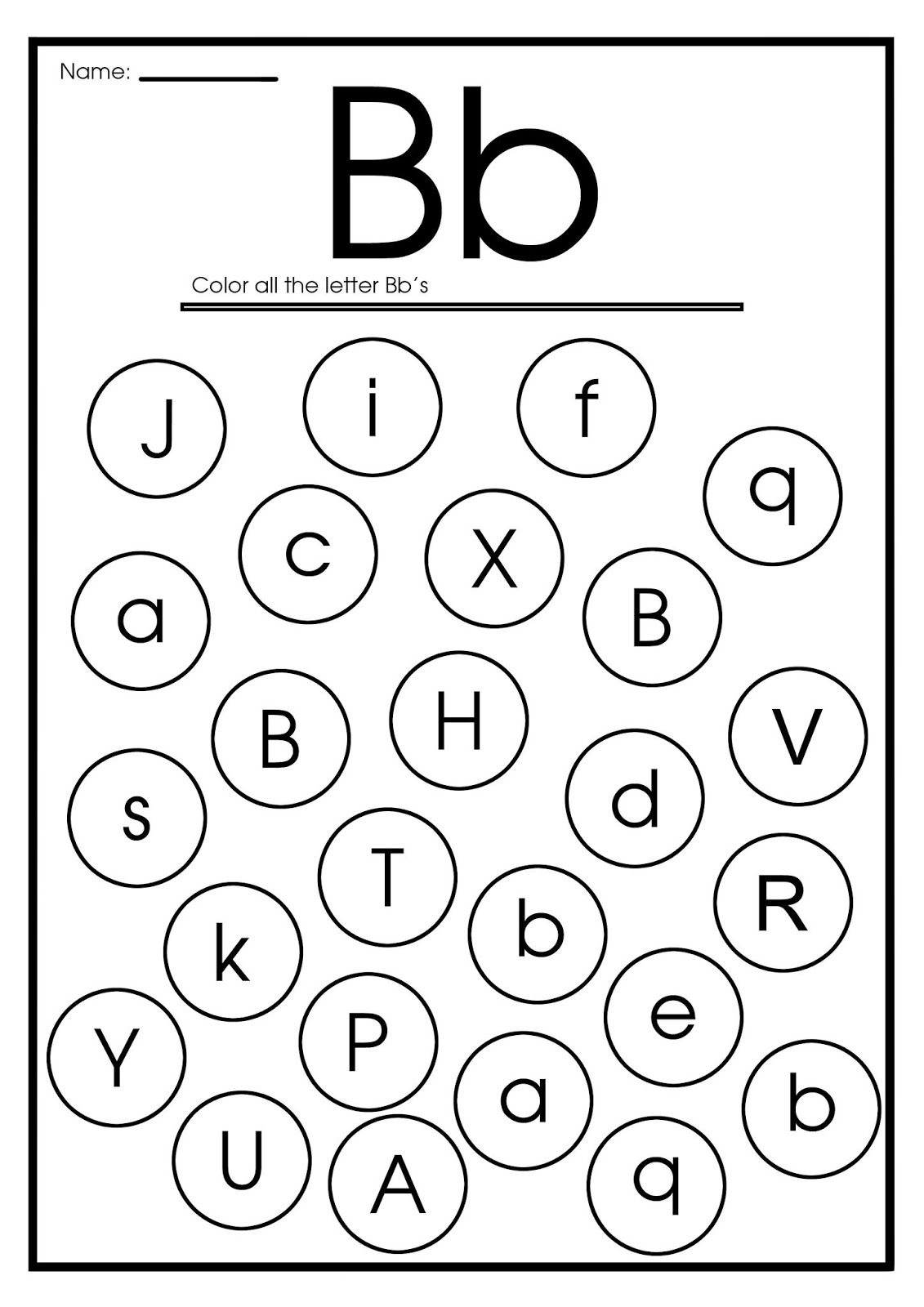 Worksheet Letter B Preschool