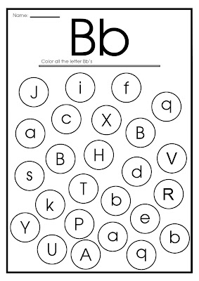 printable worksheet find letter b